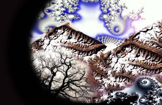 Fractal mountain lanscape 2