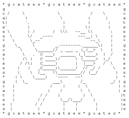 Sex ascii art sms