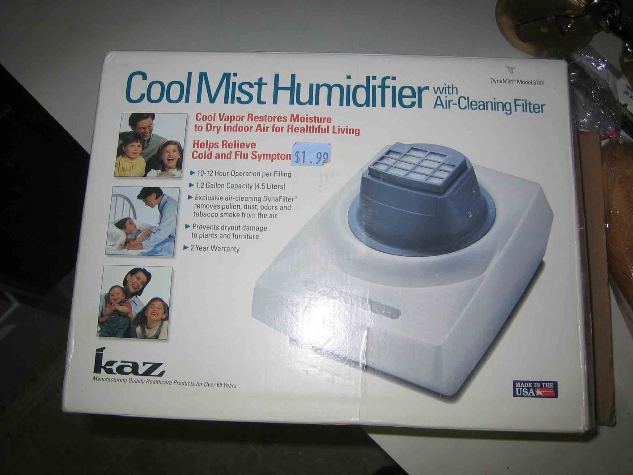 Cool Mist Humidifier Makes Room Colder