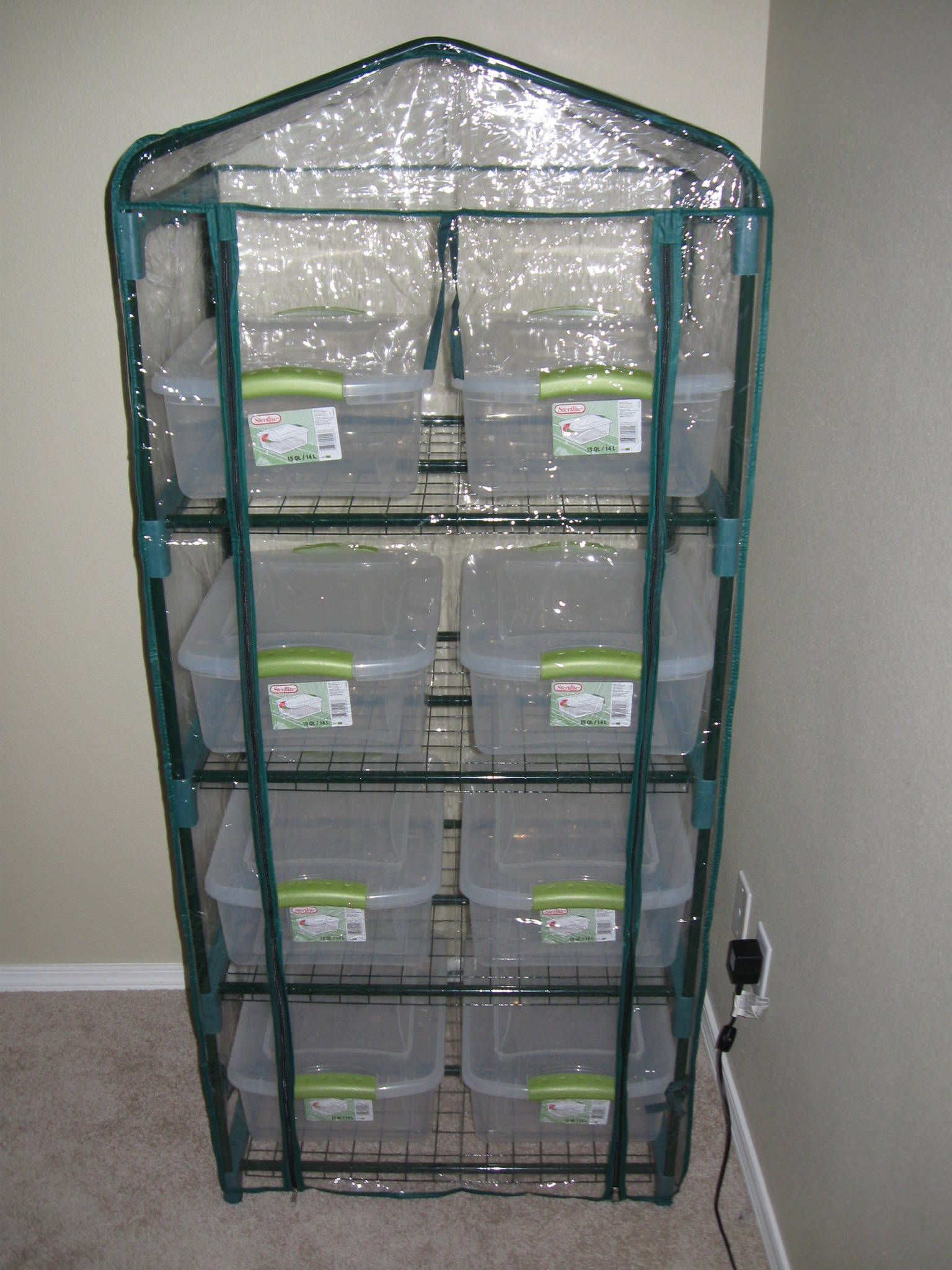 Search ebay for item 270383793134 it is the 4-tier for $29 shipped. I just got mine set up here are some pics. & GROW TENT/ MARTHA BOX - Mushroom Cultivation - Shroomery Message Board