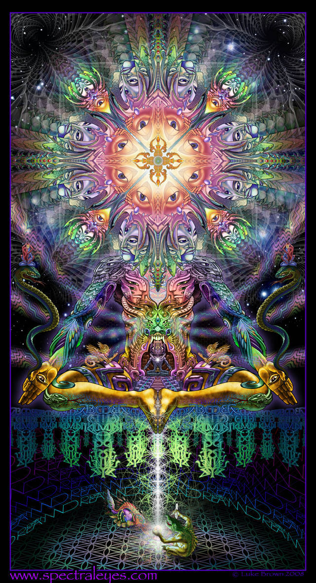 Your favorite artwork by alex grey luke brown music for Trippy house music