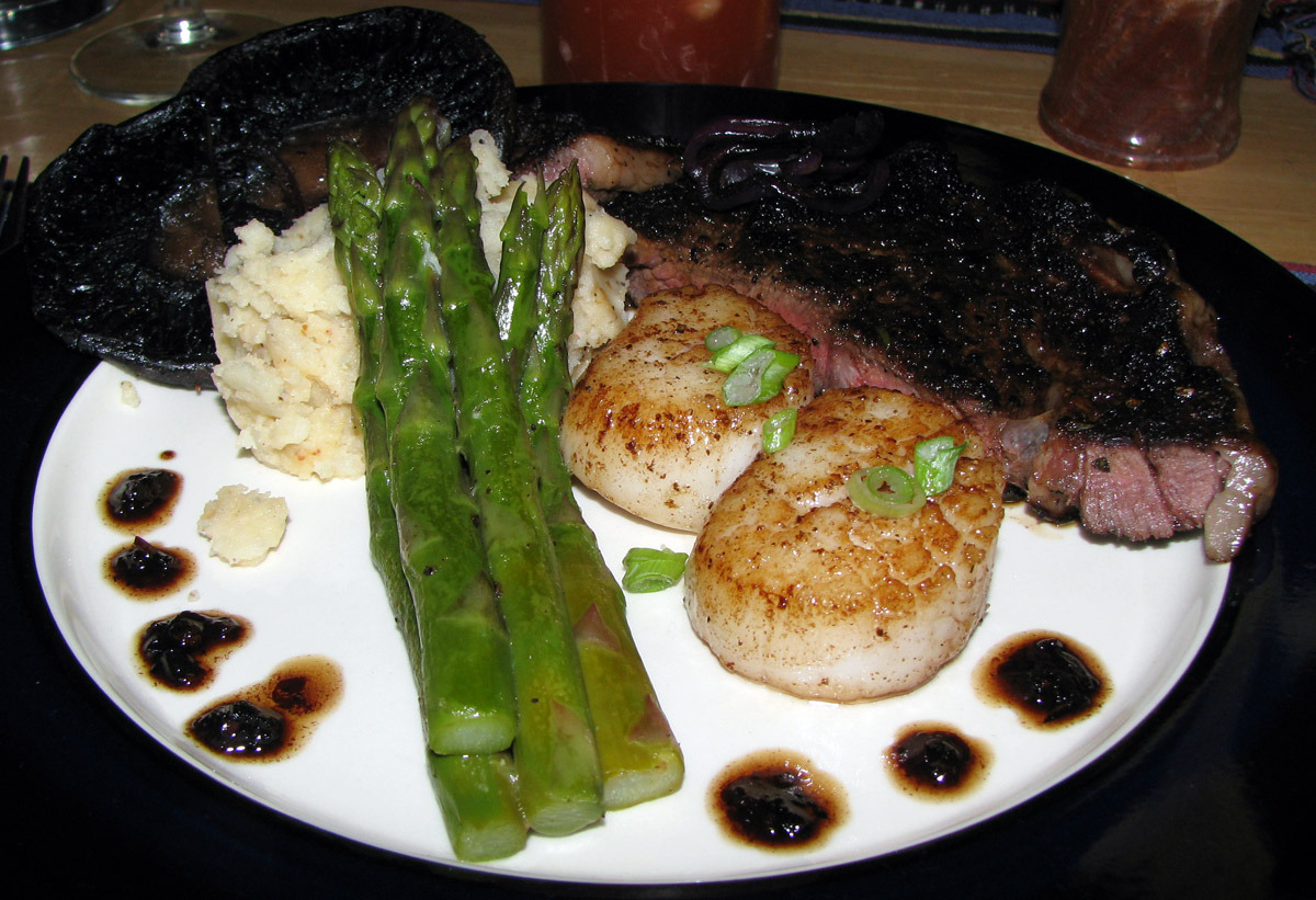 Surf N Turf For Valentine S Day Ribeye Steak Amp Scallops
