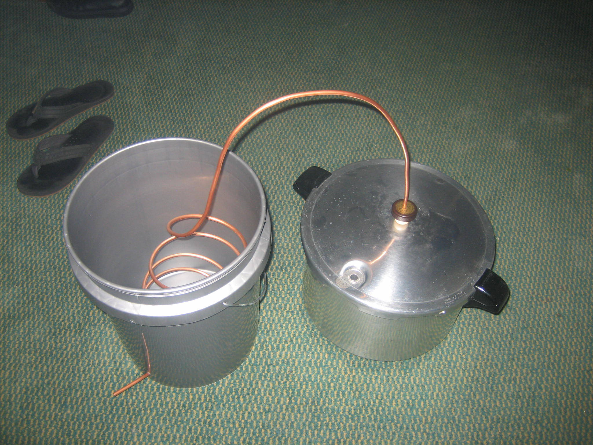 Homemade moonshine still pressure cooker