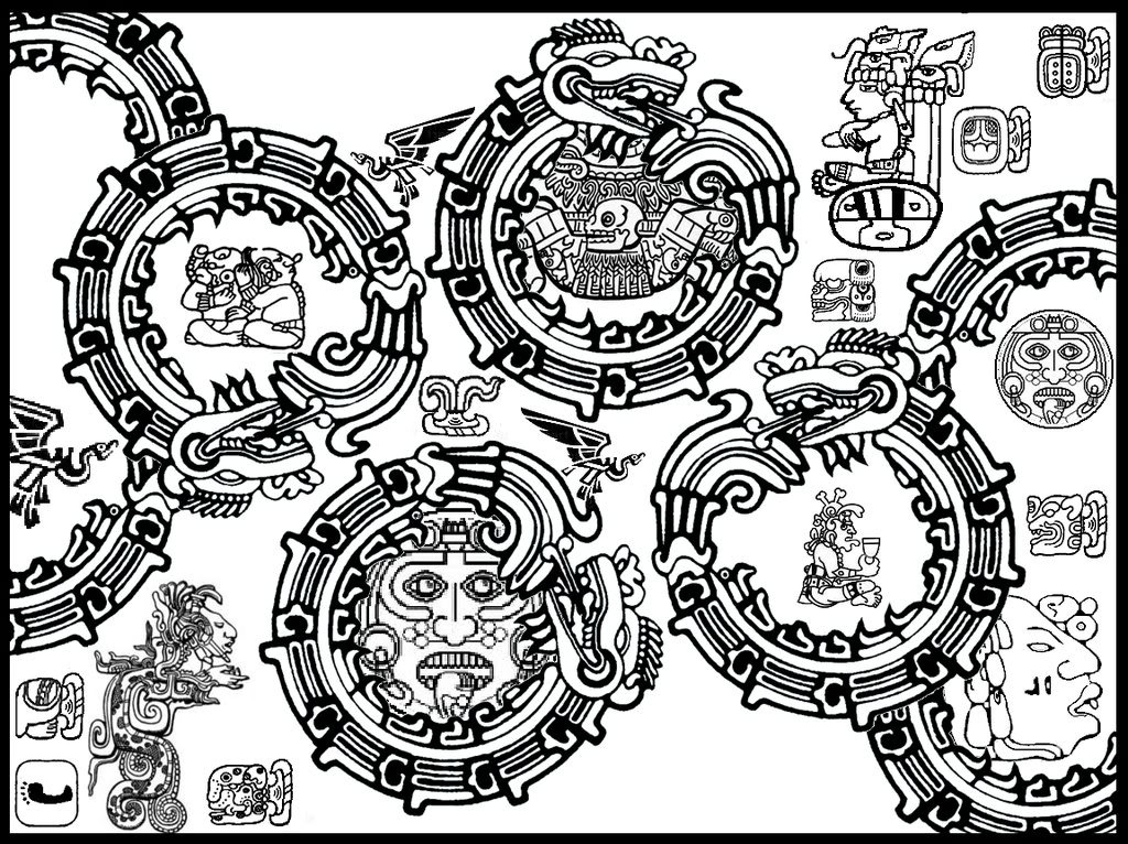 Mayan Coloring Pages