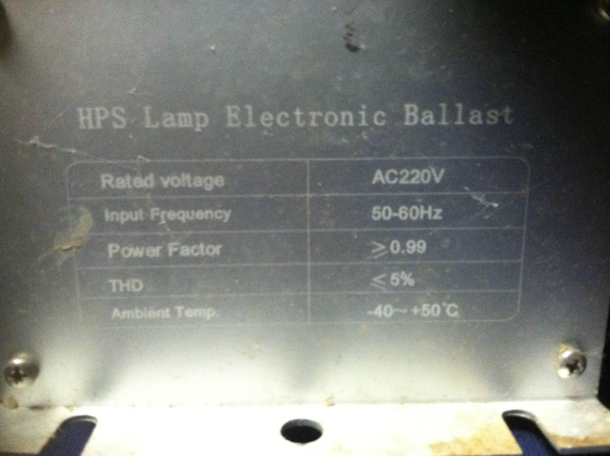 HPS light fixture wiring help - The Ethnobotanical Garden ...