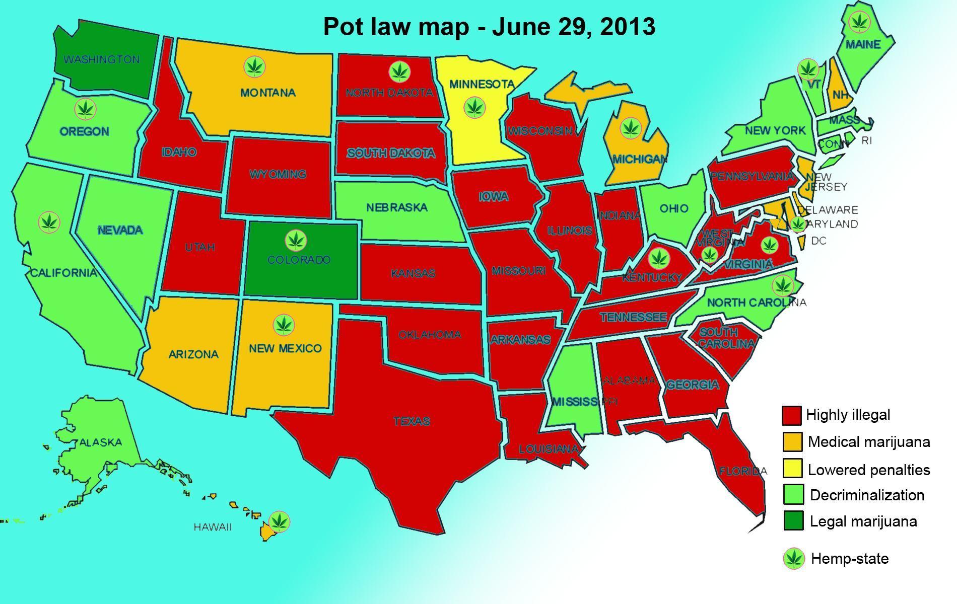 Marijuana Legal Map 2013 - Creativehobby.store •