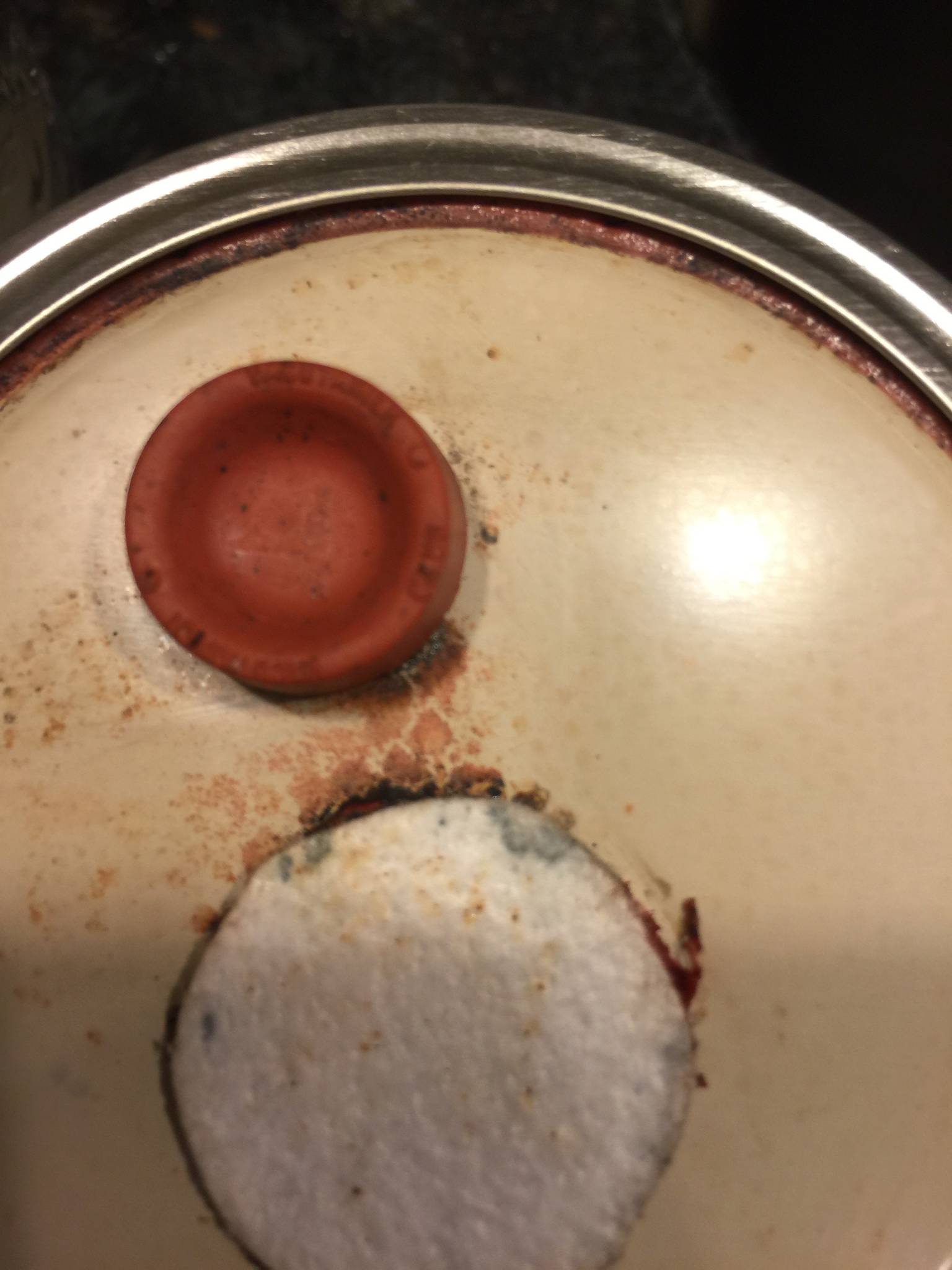 Black Residue Inside Canned Food